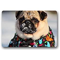 "'dalliy Carlino Pug Fu?Alfombrillas Doormat Outdoor Indoor 23.6 ""x15.7 about 59.9 cmx39.8 cm, tela, D, 23.6""V15.7"""