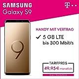 Samsung Galaxy S9 (sunrise gold) 64GB Speicher Handy mit Vertrag (Telekom Magenta Mobil M) 5GB Datenvolumen 24 Monate Mindestlaufzeit