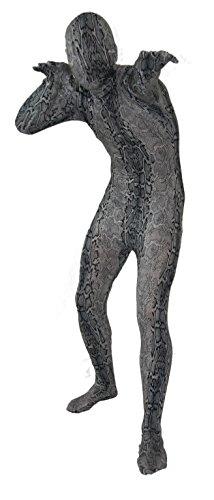 Graues Schlangen Kostüm Ganzkörper Kostüm Größe (Morphsuit Ganzkörper)