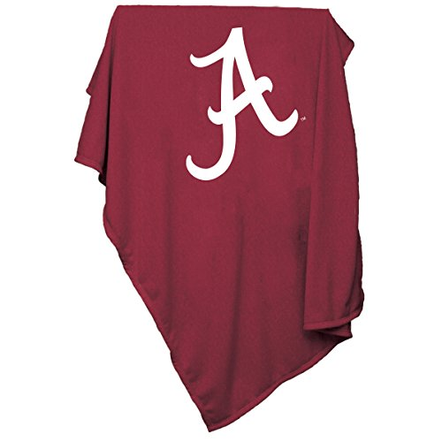 Alabama Sweatshirt (Collegiate Sweatshirt Decke mit Tackle Twill-Logo, 137 x 213,4 cm, Alabama Crimson Tide, 84 x 54)