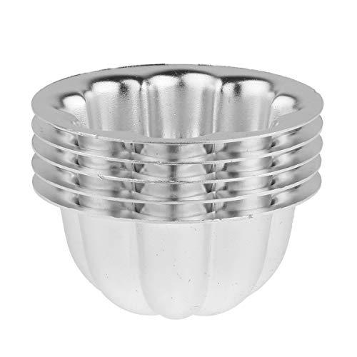 Agoky Pudding-Förmchen - 5 Stück - Aluminum Förmchen für Pudding und andere leckere Desserts Cupcakeform Backform Torteletts Muffinform 5er Set C L 5 Dessert