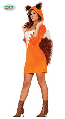 Fuchs Kostüm Mädchen (KOSTÜM - FÜCHSIN - Größe 38-40 (M), Sexy Girl Mädchen Fuchs Gans Tierkostüme Raubtiere)