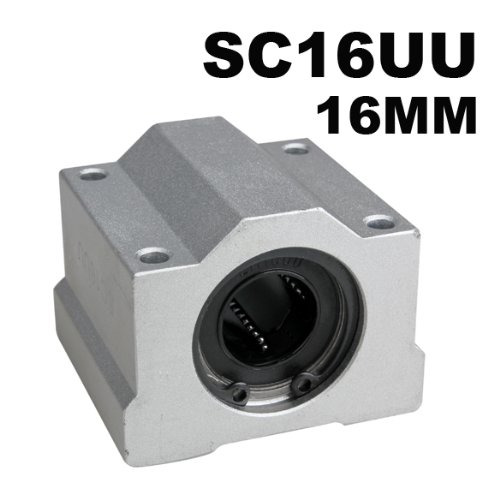 Tenflyer SCS16UU 16mm Billes de Mouvement Linéaire Palier Lisse CNC