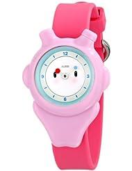 Alessi AL23003 - Reloj analógico automático para niño, correa de plástico color rosa