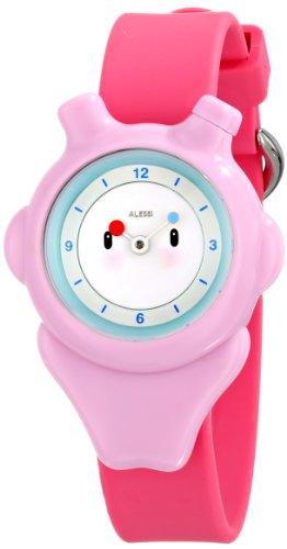 Alessi - AL23003 - Montre Mixte Enfant - Automatique - Analogique - Bracelet Plastique Rose