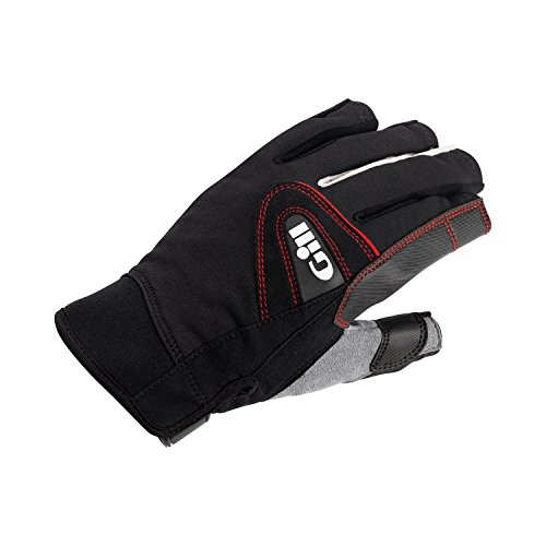 2017 Gill Championship Short Finger Sailing Gloves Black 7242 Size - - Medium (Wetsuit-medium Kurz)