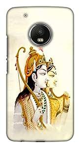 Blutec Mata Sita and Bhagwan Ram Design 3D Printed Hard Back Case Cover for Motorola Moto G5 Plus