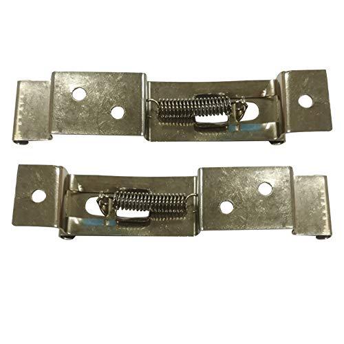 2 clips o soportes para matrícula de remolque, abrazaderas para matrícula, resorte de acero inoxidable