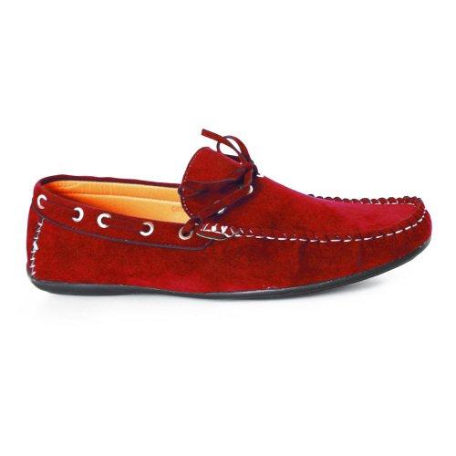 Kebello, Scarpe da barca uomo, Rosso (Rouge), 43 EU