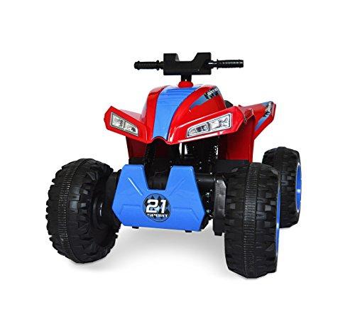 Quad elettrico 4x4 ATV LT879 per bambini cavalcabile 4 ammortizzatori. MEDIA WAVE store (Rosso)