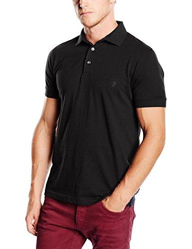 French Connection Herren T-Shirt, Einfarbig Schwarz - Black (Black/Gunmetal)