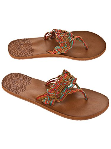 Roxy donna dita sandali Multicolore (Multicolore)