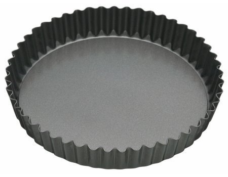 Master Class Non-Stick Fluted Flan Tin/Quiche Pan with Loose Base, Grey, 20 cm (8 inch)