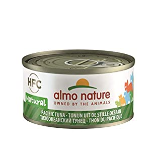 Almo Nature HFC Natural - Wet Cat Food with Pacific Tuna (Pack of 24 x 70g Tins)