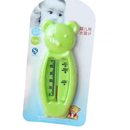 Deanyi Baby Wasser Thermometer Karikatur Bären Form Badewannen Wasser Sensor Thermometer Wasser Schwebe Tester für neugeboren zufällige Farbe baby toys (App Tester)