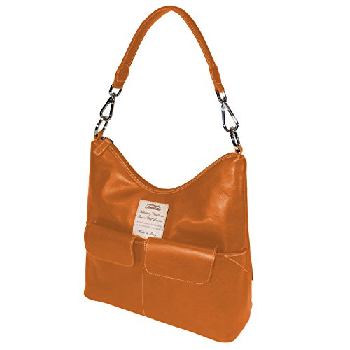 Terrida Marco Polo borsa a spalla - LE240 (Verde) Arancione