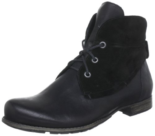 Think Denk 81015 Damen Combat Boots Schwarz (sz/kombi 09)
