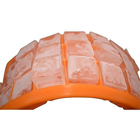 Nourriture Grade Silicone Moules à glaçons, 21Cubes par bac à glaçons, bac à glaçons facile Expulsion anti-adhésive, glace, sûr et durable. New Orange