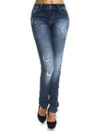 Damen Übergrößen Hose mit Riss Optik 21468