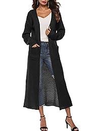 Zilcremo Las Mujeres Tejer Abrigo De Manga Larga Ropa Cárdigan Irregular Knit Abrigos