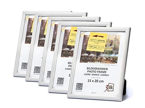 3B Conjunto 5 Piezas Jena Marco - Blanco - 15x20 cm