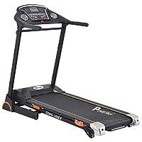 PowerMax Fitness TDM-105S (4HP Peak) Motorized Treadmill with Free Installation, 3 Years Motor Warranty, Hi Fi Speaker, Usb & Tablet Holder, Home Use - Foldable & Automatic Lubrication