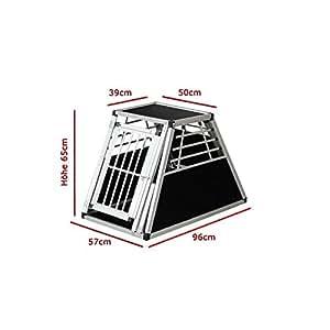 cage N 45 de transport pour chien aluminium