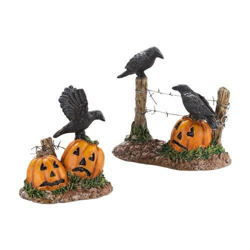 Abteilung 56 Zubehör für Dörfer Halloween Raben, 4,4 cm (403078) -