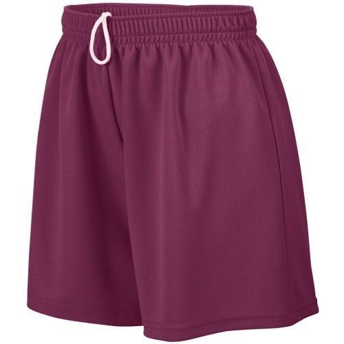 Augusta Sportswear WOMEN'S WICKING MESH SHORT 2XL Maroon