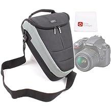 DURAGADGET Funda Protectora Con Bandolera Ajustable Para Cámara Nikon D3300 + Gamuza Limpiadora De Regalo