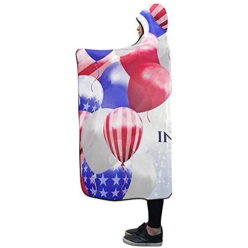 NA Mit Kapuze Decke Independence Day USA 4. Juli Decke 50 x 40 Zoll Comfotable Hooded Throw Wrap