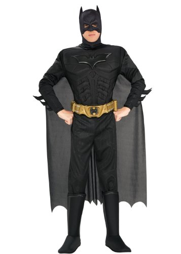 Costume Halloween adulto Batman nero Medium (37-40