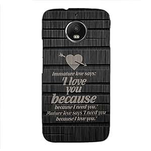 PrintVisa Designer Back Case Cover for Motorola Moto G5S (Love Comparison Quote)