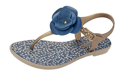 Grendha Bouquet Sandal Damen Flip Flops / Sandalen Gold hdXj0aBM
