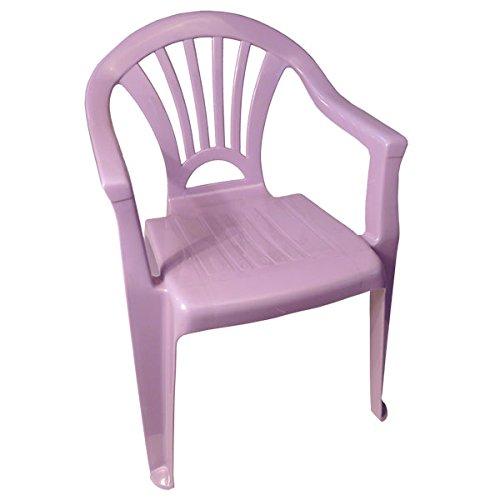 Kinderstuhl Plastik Gartenstuhl Stapelstuhl Kindersitz stapelbar Farbe(n) nach Auswahl Maße (H/L/B) 52x36x25 cm (Lavendel)