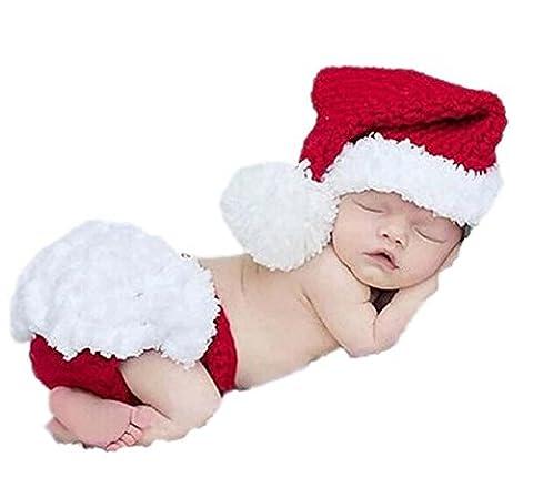 Bébé Père Noël Chapeaux - DAYAN Père Noël costume infantile bébé Rouge-blanc