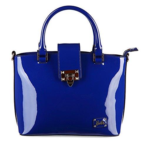 Barbie Sac à Main/Porté à la série de Mode Classique Elégant pour Filles/Femmes Shopping Fashion Cool en cuir PU de couleur pure # BBFB084 (bleu fonce) bleu fonce