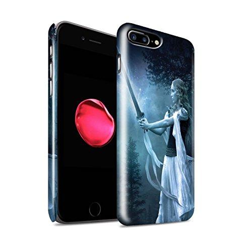 Officiel Elena Dudina Coque / Clipser Brillant Etui pour Apple iPhone 7 Plus / En Feu Design / Super Héroïne Collection Épée Magique