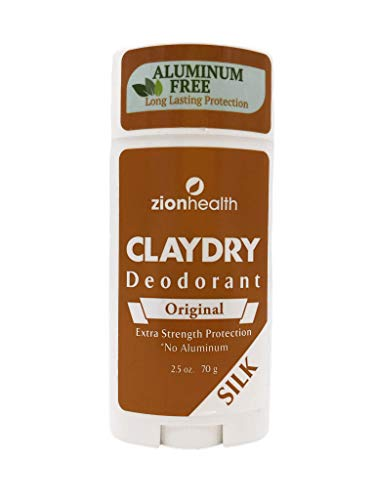 Clay Dry Déodorant, Soie dorigine, à 2,5 oz (75 ml) - Zion Santé