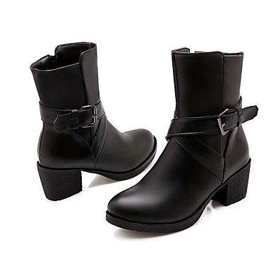 Love & Scarpe da donna Stivali di ufficio/vestito/Casual-Block di comfort tacco nero/rosso/bianco rosso