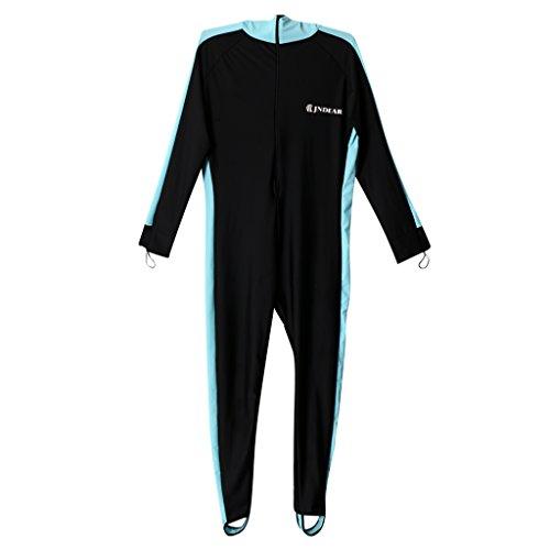54c52e8e5f FLAMEER Hombre Traje De Neopreno Natación Submarinismo Snorkel Surf Traje  De Esquí De Jet Hood Traje Completo - Azul negro