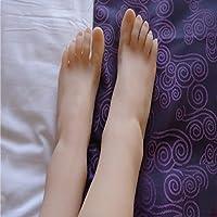 BIXINYAAN 1 Pair Silicone Female Mannequin Foot Sandal Shoe Sock Display Art Sketch