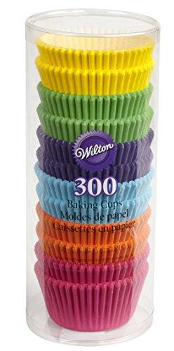 Wilton Backförmchen Regenbogenfarben 300er, Paper, Bunt, 18.11 x 7.62 x 7.62 cm, 1 Einheiten (Set Cup Baking)