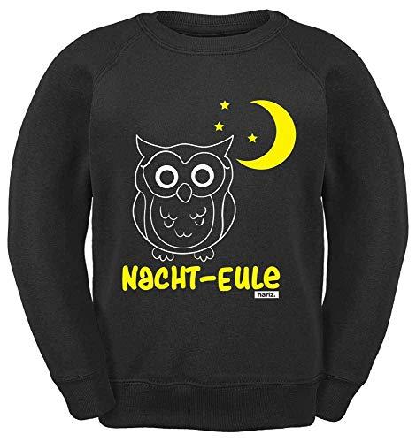 HARIZ Kinder Sweater Nacht Eule Tiere Zoo Plus Geschenkkarte Schwarz 164/14-15 Jahre (Nacht Eule 2 Kostüm)