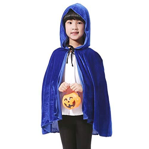 LL Halloween-Umhang Kinder Halloween Umhang Tunika Kapuzen Robe -