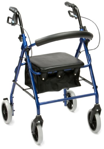 drive-medical-r8bl-23-lightweight-aluminium-padded-seat-rollator-blue-eligible-for-vat-relief-in-the