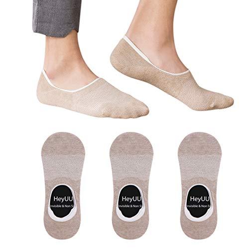 HeyUU Baumwolle Füßlinge Unsichtbare Sneaker Socken Mit 8 Rutschfeste Silikonstreifen Nicht Fallen Socken -