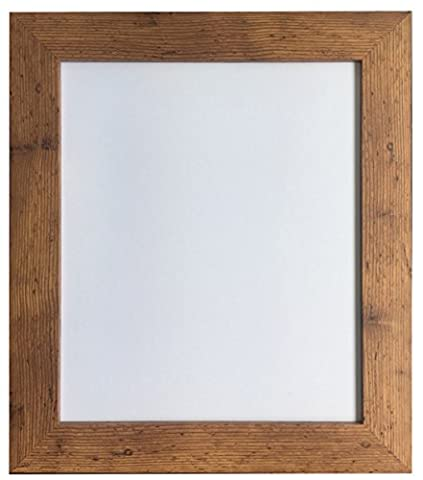 Metro Vintage Wood Picture Photo Frame 24 x 18 inch (Plastic Glass)