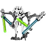 Your's Choice LEGO STAR WARS MINIFIGURA GENERAL GRIEVOUS BLANCO CLONE WARS 4 SABLES 75040