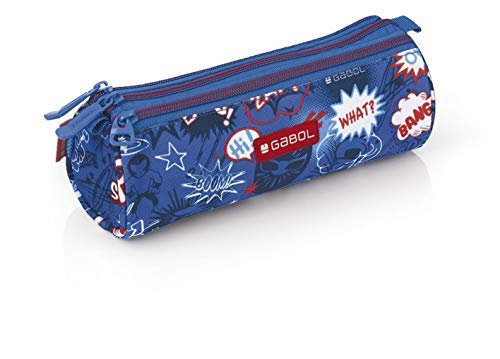 Gabol Portatodo Triple Redondo Bang Mochila Infantil, 22 cm, Multicolor